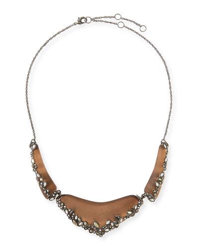 Alexis Bittar Lucite Lace 3-Part Bib Necklace