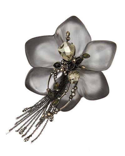 Alexis Bittar Lace Flower Tassel Pin