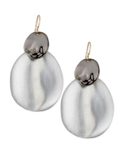 Alexis Bittar Liquid Chip Wire Lucite Earrings, Gunmetal