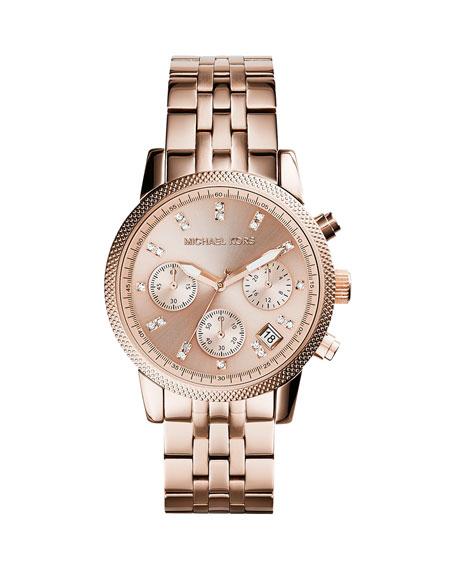 Rose Golden Stainless Steel Ritz Watch