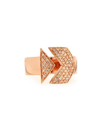 Sydney Evan 14k Rose Gold White Diamond Arrow Ring