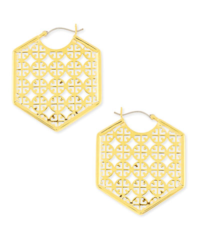 Perforated Logo Hoop Earrings