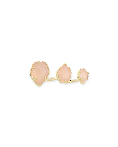 Naomi Rose Quartz Double Ring