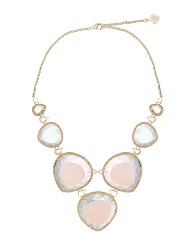 Kendra Scott Rebecca Necklace, Slate Cat's Eye