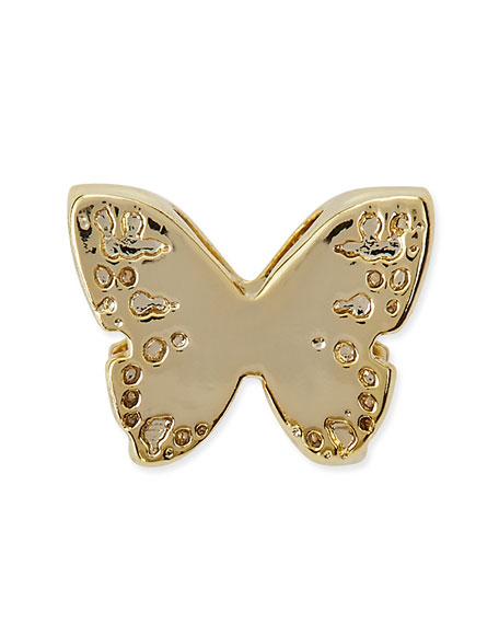 kendra 14k gold plated butterfly charm