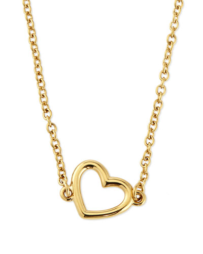 MARC by Marc Jacobs Golden Heart Pendant Necklace