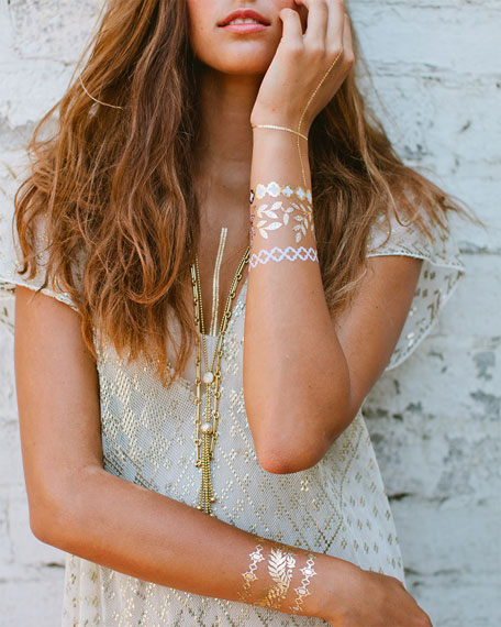High Noon Jewelry Metallic Temporary Tattoos