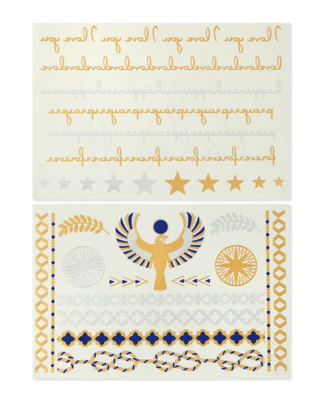 Golden One Jewelry Metallic Temporary Tattoos
