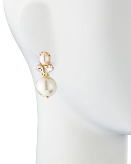 Simulated Pearl Knocker Earrings
