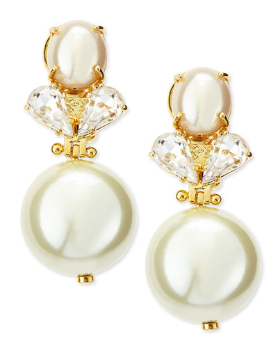Lele Sadoughi Simulated Pearl Knocker Earrings