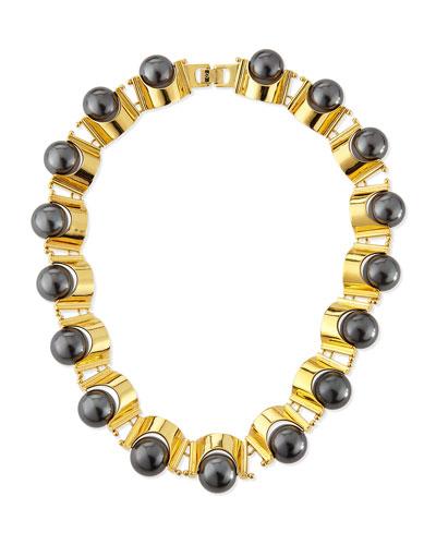Hematite Groove Necklace
