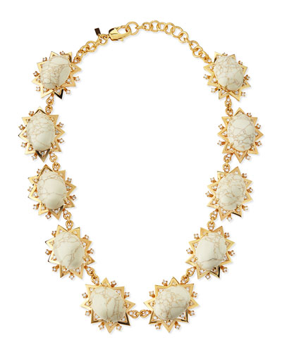 Lele Sadoughi Howlite Sunshine Necklace