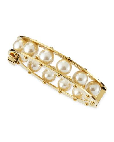 Lele Sadoughi Simulated Pearl Slider Bracelet