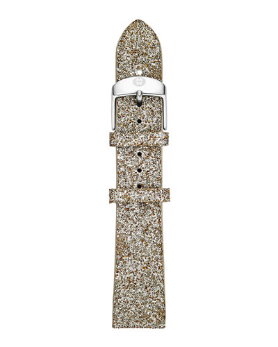 MICHELE 16mm Crystal Watch Strap, Gray Sand