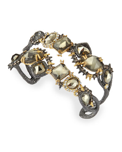 Alexis Bittar Elements Ruthenium Muse d'Ore Multi-Stone Cuff