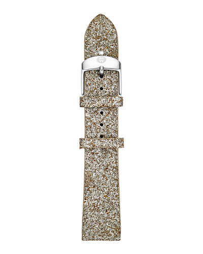 MICHELE 18mm Crystal Watch Strap, Gray Sand