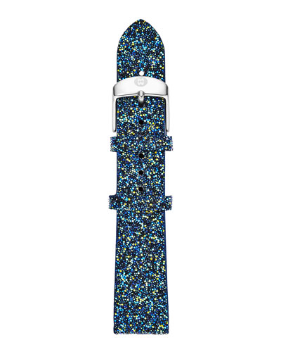 MICHELE 16mm Crystal Watch Strap, Blue Nights