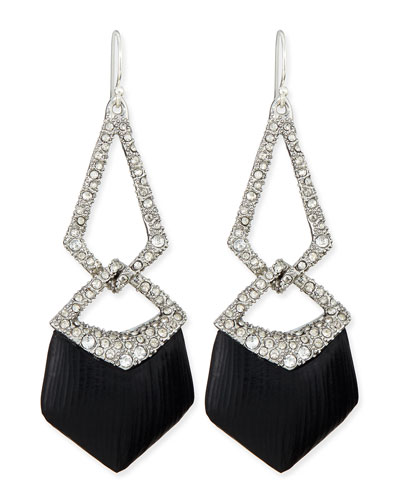 Alexis Bittar Lucite Encrusted Link Wire Earrings