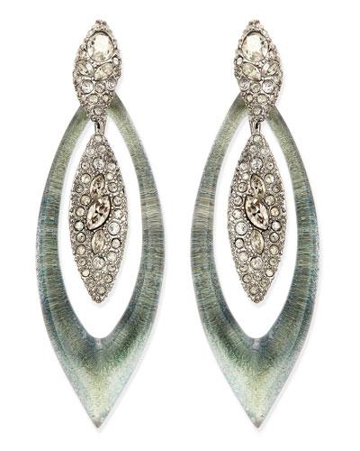 Alexis Bittar Encrusted Concave Centerpiece Earrings