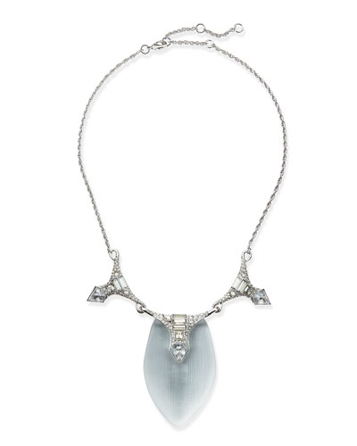 Alexis Bittar Lucite & Crystal Deco Necklace