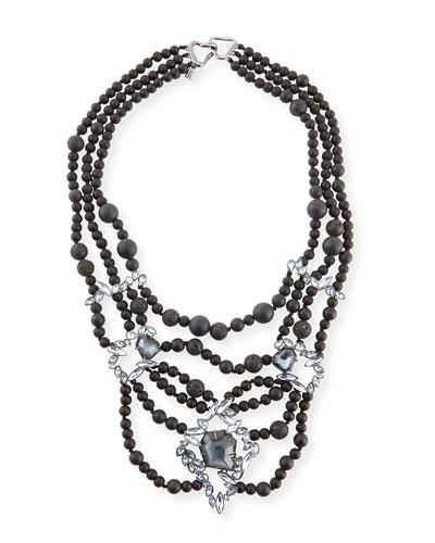 Miss Havisham Onyx Beaded Necklace