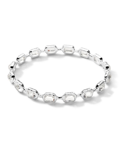 Ippolita Sterling Silver Rock Candy Multi-Stone Bangle in Clear Quartz