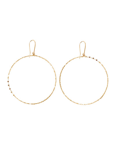 14k Gold Large Blake Hoop Earrings