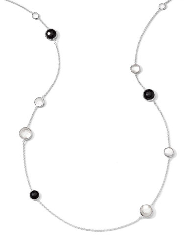 Sterling Silver Wonderland Lollipop Station Necklace in Astaire, 40