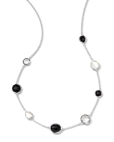 Sterling Silver Wonderland Mini Gelato Short Station Necklace in Astaire, 16-18