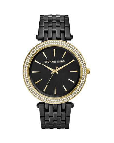 Black Stainless Steel Golden Darci Watch