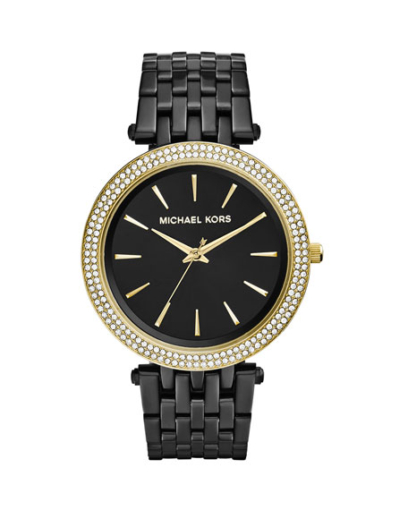 Michael KorsBlack Stainless Steel Golden Darci Watch