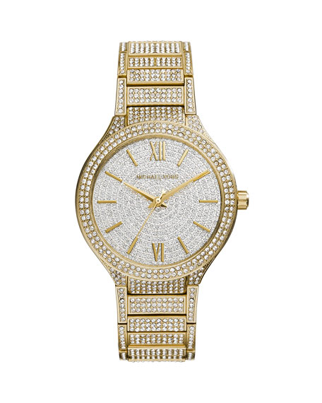 Kerry Golden Stainless Steel Pave Watch