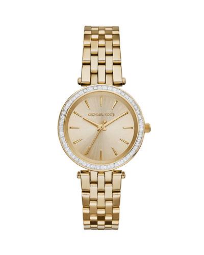 Mini Darci Golden Stainless Steel Glitz Watch