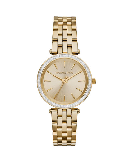 Michael Kors Mini Darci Golden Stainless Steel Glitz