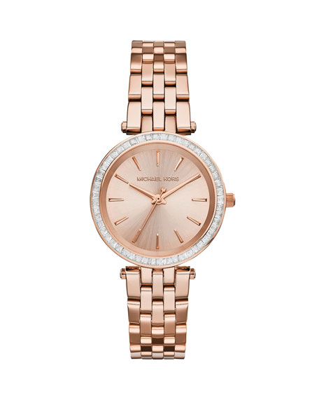Michael KorsMini Darci Rose Golden Stainless Steel Glitz