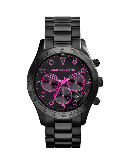 Layton Black Stainless Steel Chronograph Watch