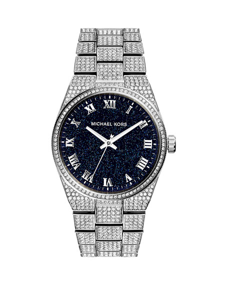 Channing Stainless Steel Pave Watch