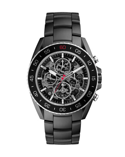 Black Stainless Steel Jet Master Automatic Watch
