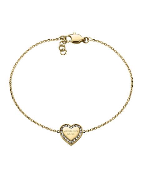 Golden Logo Heart Bracelet