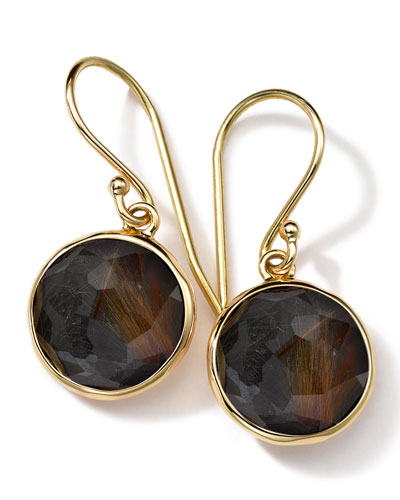 Ippolita 18k Gold Rock Candy Mini Lollipop Earrings, Quartz/Hematite