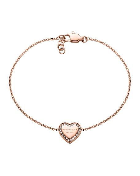 Rose Golden Logo Heart Bracelet