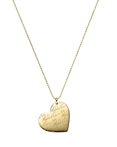 Golden MK Signature Heart Necklace