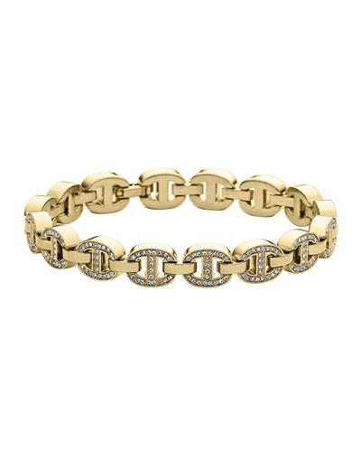 Golden Pave Maritime Tennis Bracelet