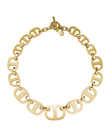 Golden Maritime Link Necklace