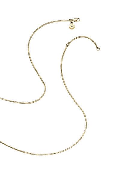 Golden Horn Long Pendant Necklace