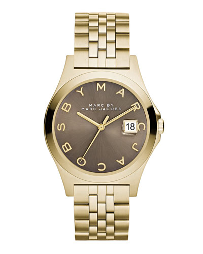 36mm The Slim Bracelet Watch, Golden/Dirty Martini
