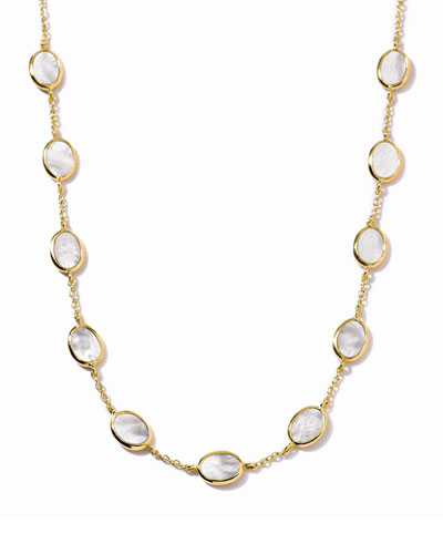 Polished Rock Candy 18k Gold Confetti Necklace in Mother-of-Pearl, 16""
