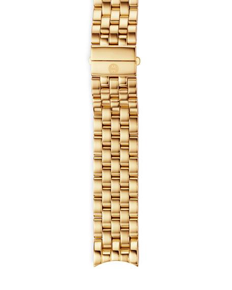 MICHELE Sport Sail 18k Gold-Plated Bracelet Strap
