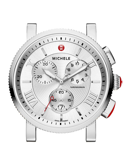 MICHELE 20mm Sport Sail Stainless Steel Watch Head,