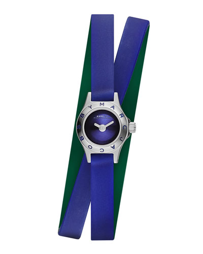 Blade Super Dinky Watch with Double-Wrap Strap, Blue